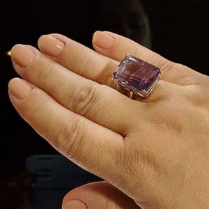 Large and in charge Amethyst Ring!